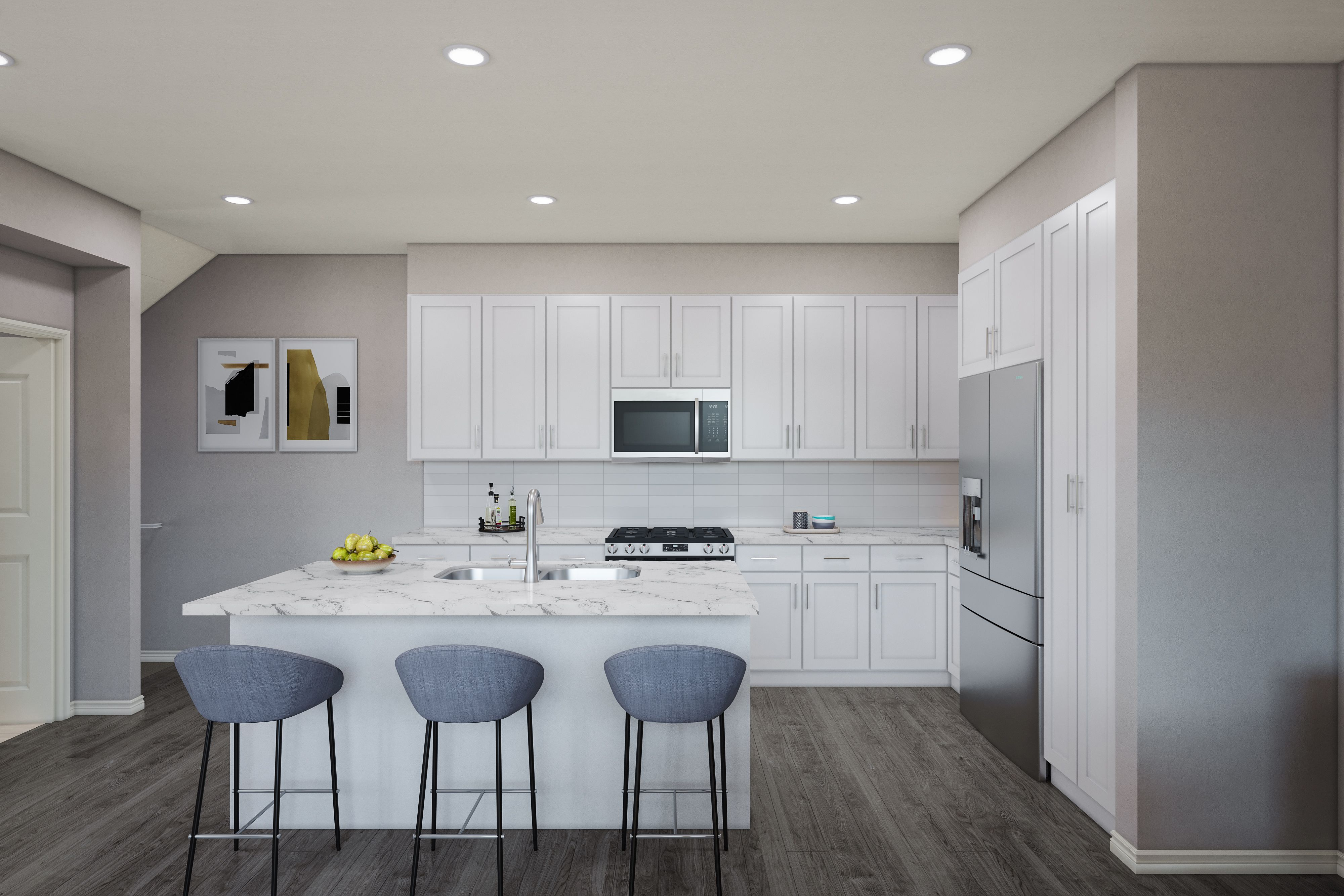 Kitchen featured in the PLAN 2A By Brandywine Homes in Los Angeles, CA