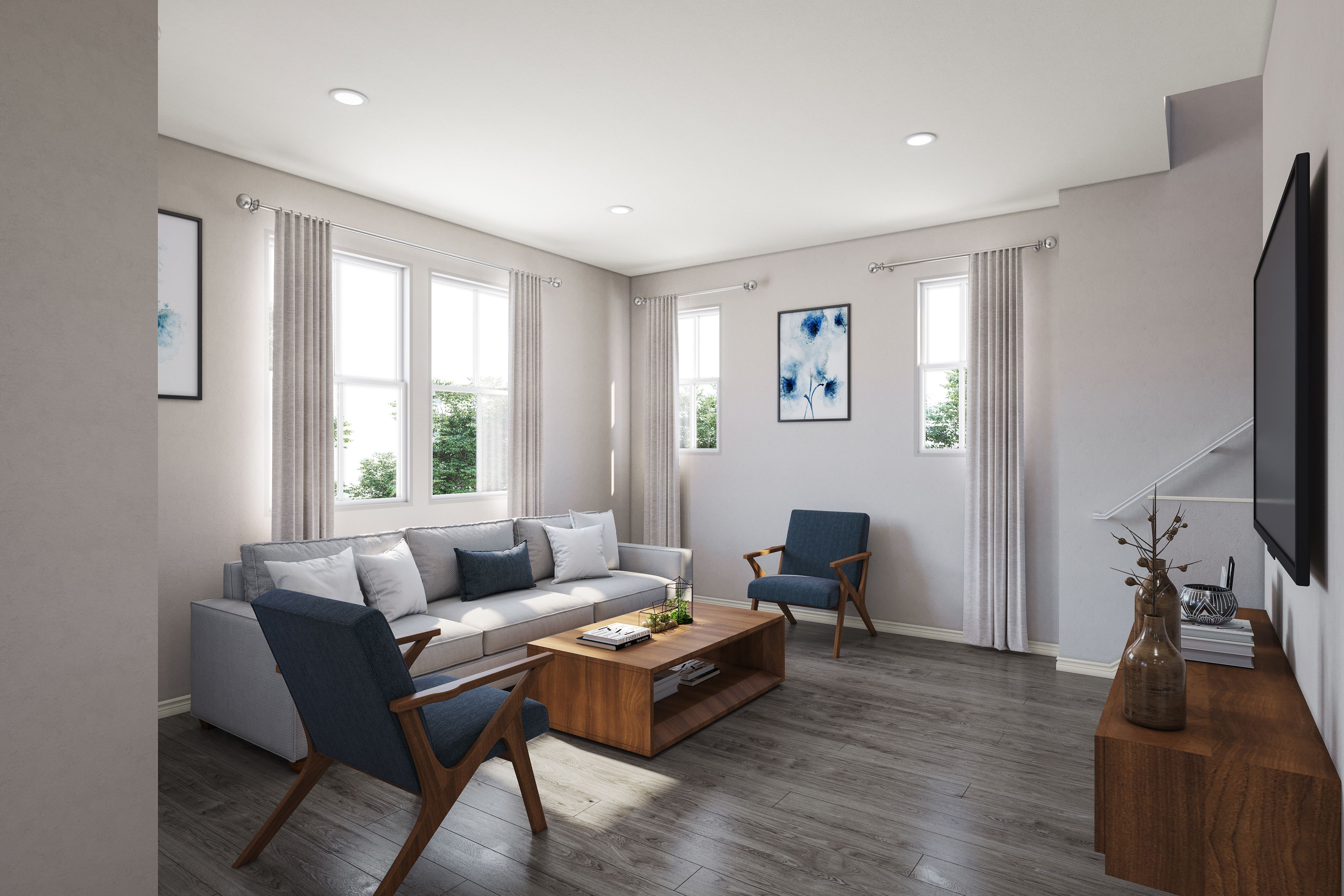 Living Area featured in the PLAN 2A By Brandywine Homes in Los Angeles, CA