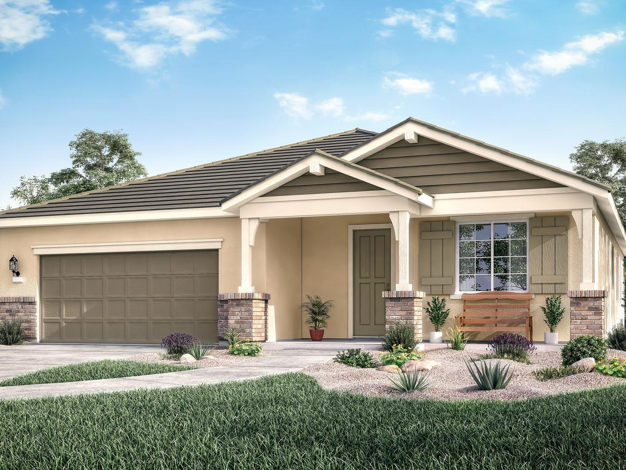 Exterior featured in the Residence Two By Bright Homes in Merced, CA