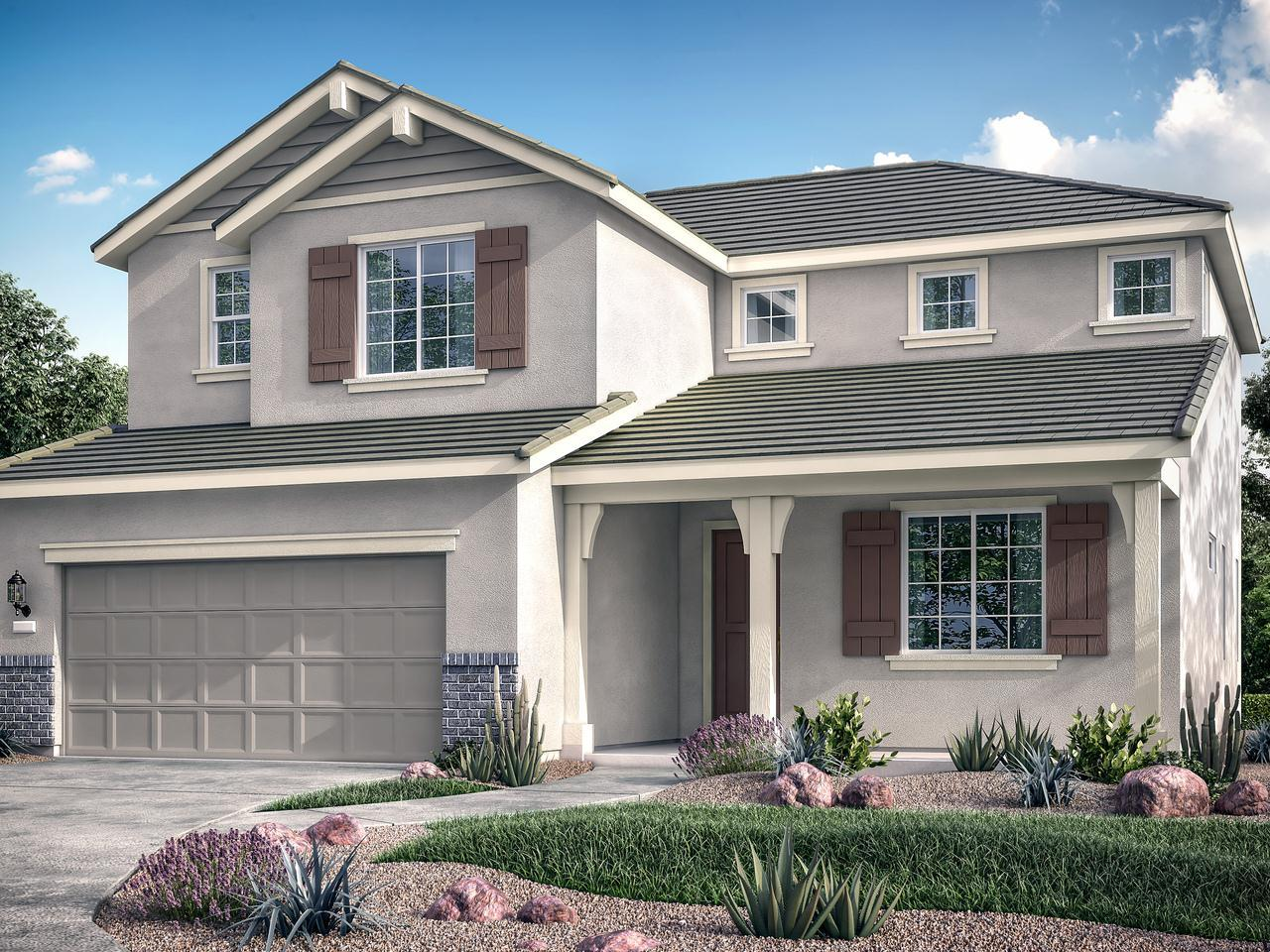 Exterior featured in the Residence Three By Bright Homes in Merced, CA