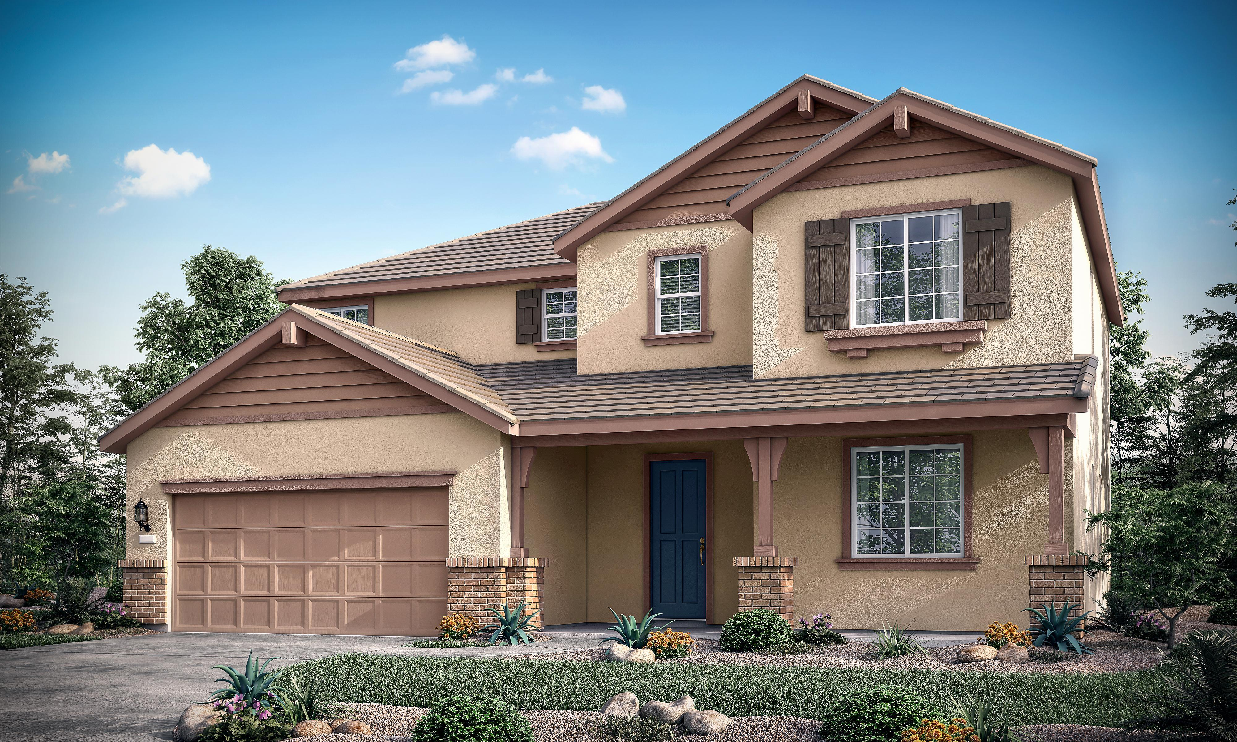 Exterior featured in the Residence Four By Bright Homes in Merced, CA