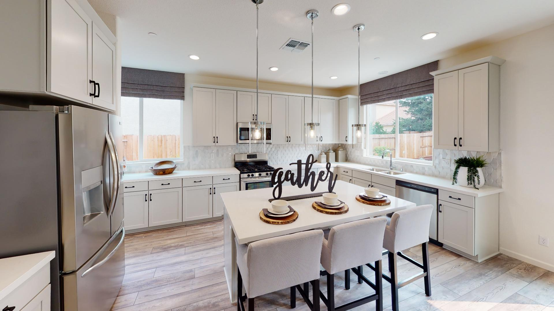 Kitchen featured in the Residence Three By Bright Homes in Merced, CA