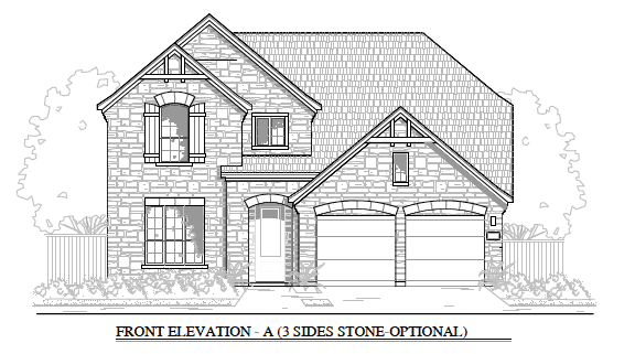 2512 Elevation A- 3 Sides Stone Optional