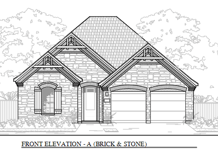 1933:Elev A Brick & Stone