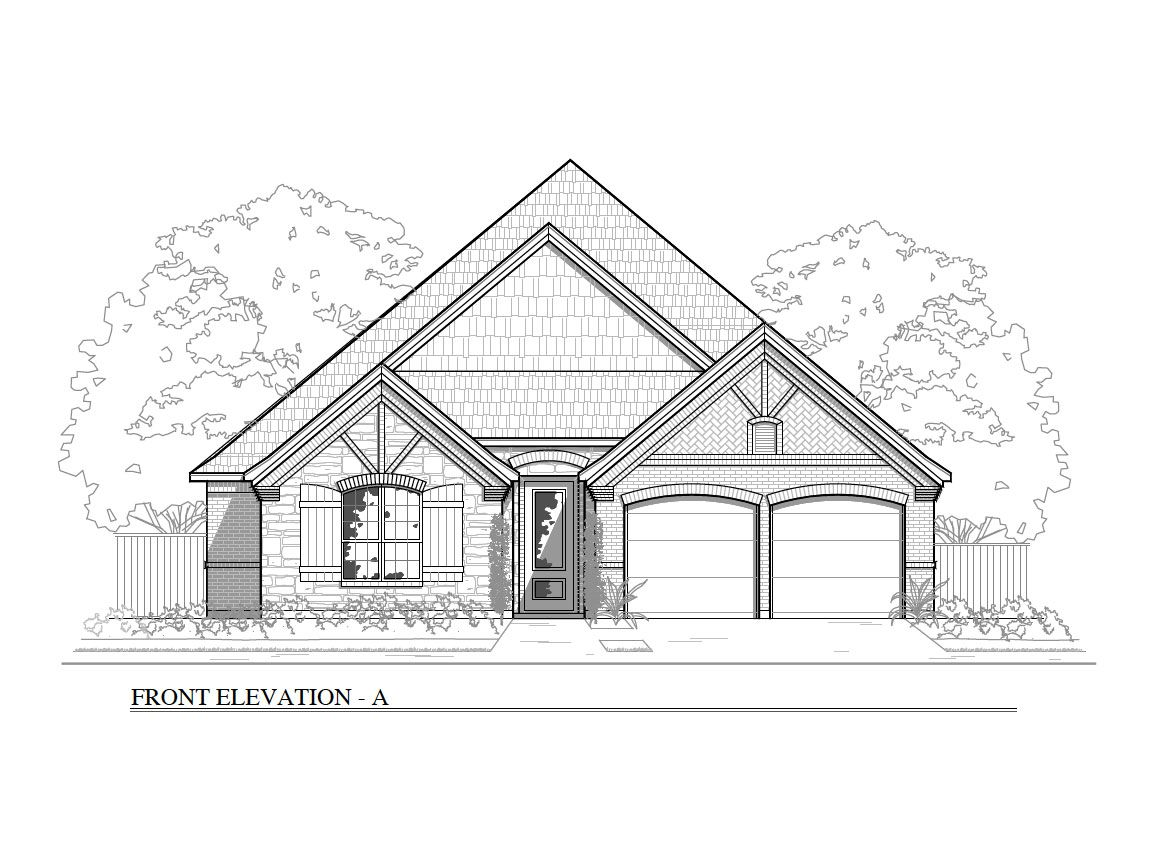 Exterior featured in the Plan 2330 By Brohn Homes in Austin, TX