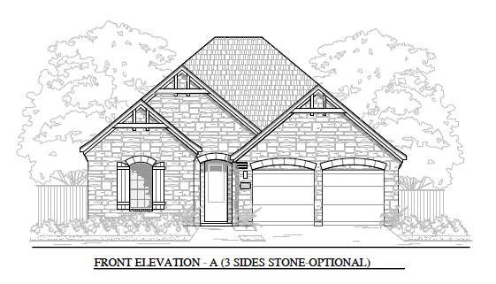 Exterior featured in the Plan 1933 Carmel By Brohn Homes in Austin, TX