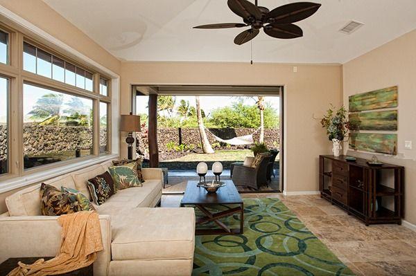 KaMilo - Plan 5:Living room open to Golf Course Views