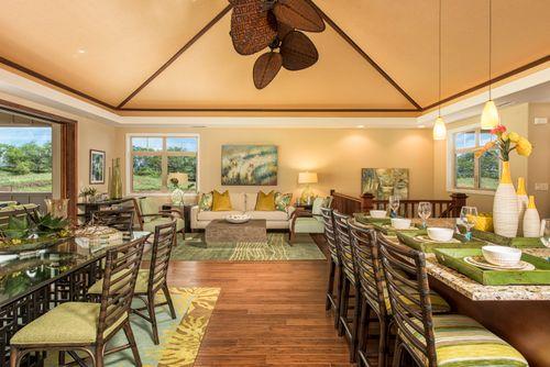 Greatroom-and-Dining-in-Plan 3 Makani-at-KaMilo at Mauna Lani Resort-in-Kamuela