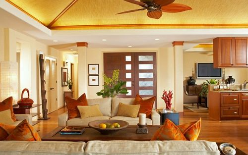 Greatroom-and-Dining-in-Plan 1 Hoku A-at-KaMilo at Mauna Lani Resort-in-Kamuela