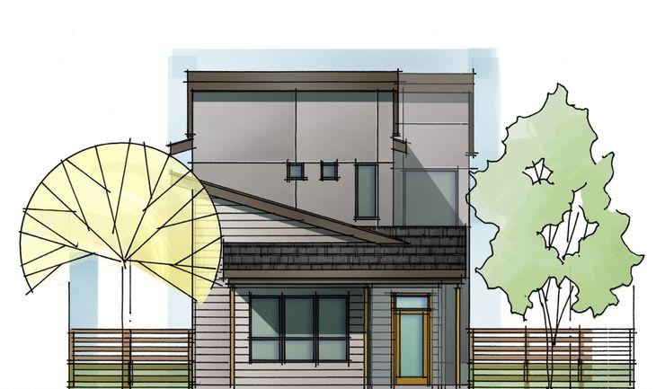 Exterior View:Elevation B