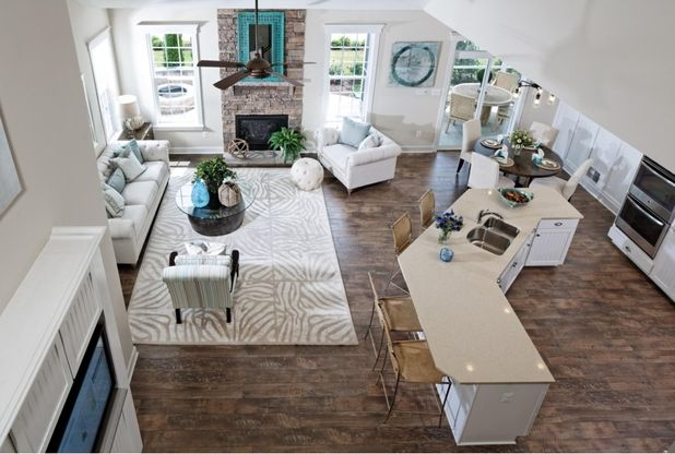 The Pearson - Kitchen and Family Room from Loft:Pearson
