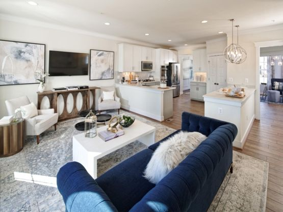 The Aurora II - Living Room and Kitchen
