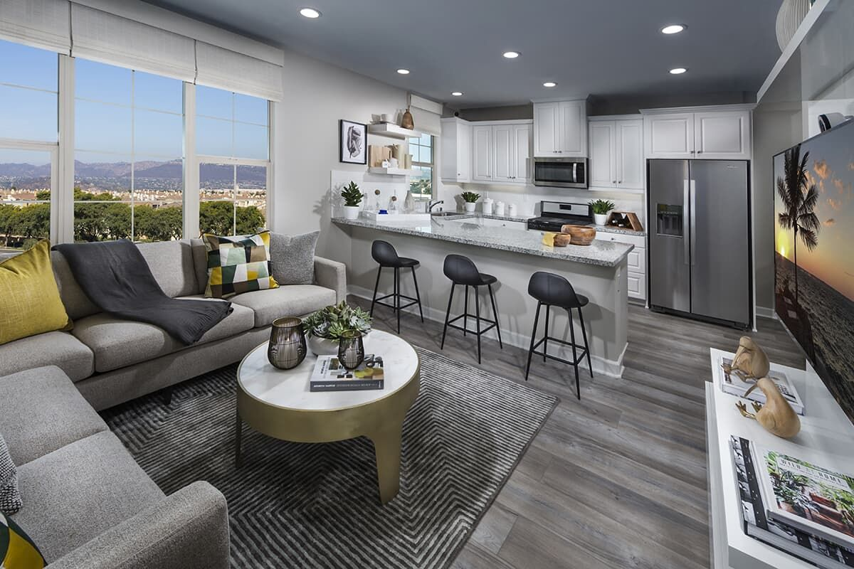 Living Area featured in the Residence 1 By Brookfield Residential  in San Diego, CA