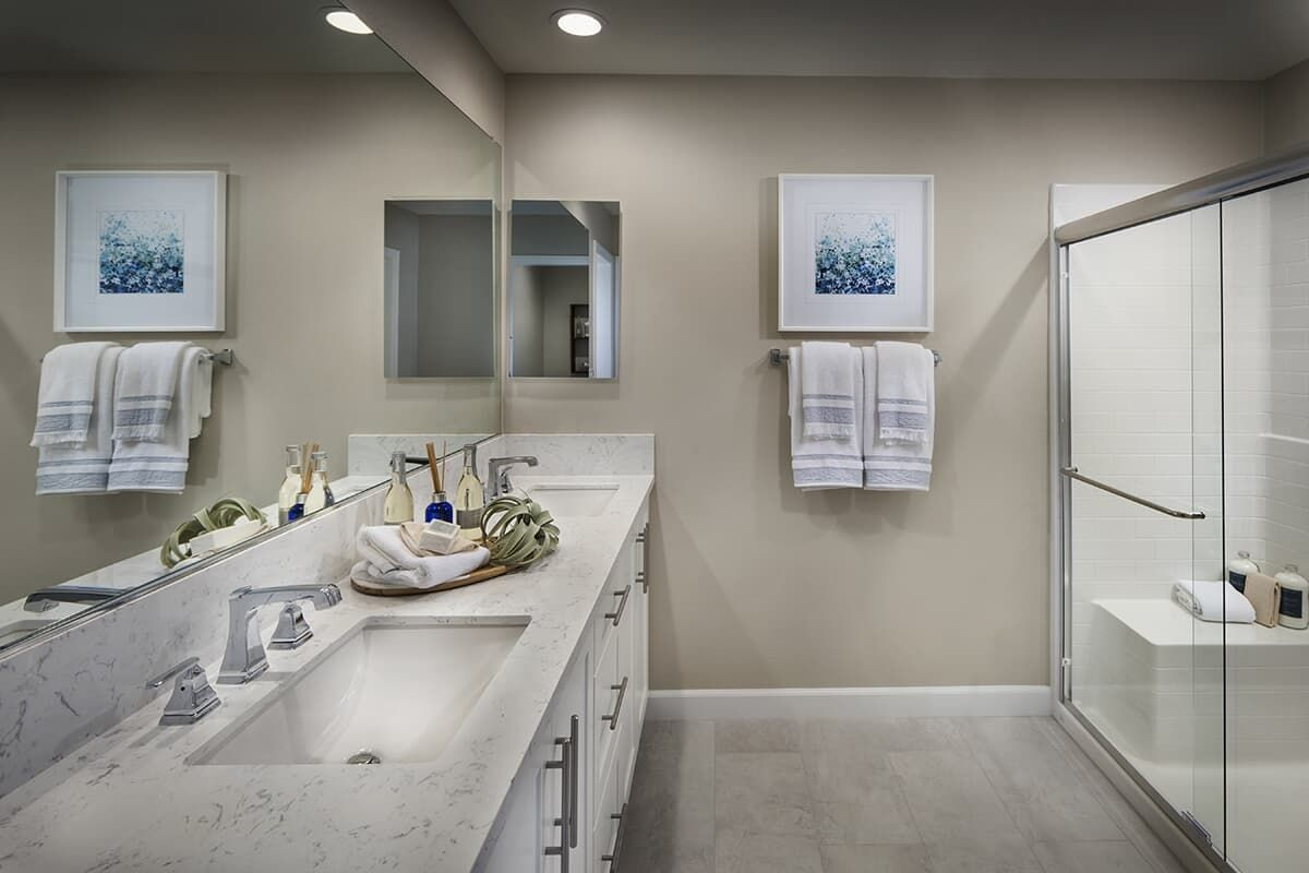 Bathroom featured in the Residence 3X By Brookfield Residential in San Diego, CA