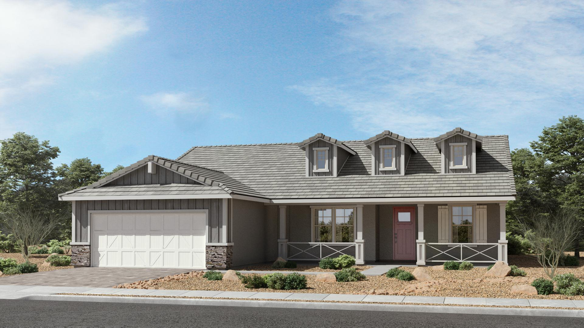 Exterior featured in The Sapphire | Plan 54.2060 By Brown Homes AZ in Prescott, AZ