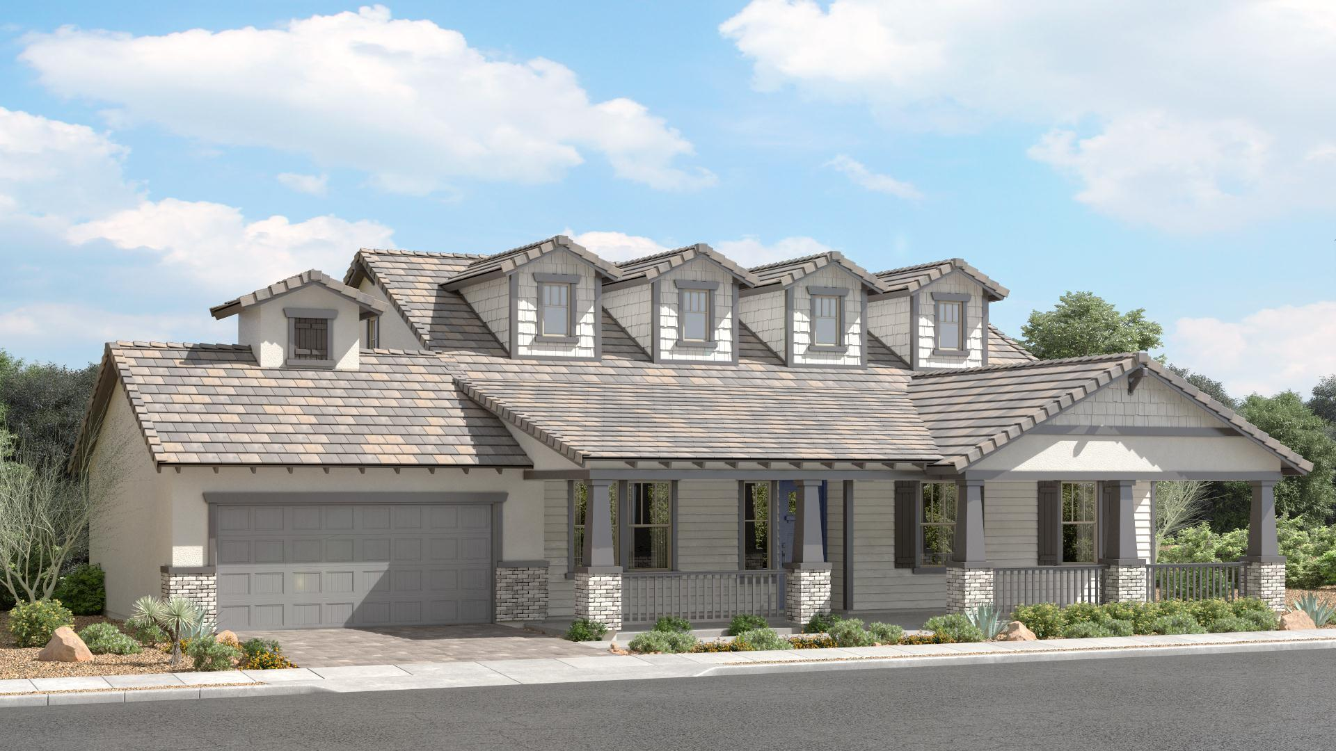 Exterior featured in The Diamond | Plan 65.2280 By Brown Homes AZ in Prescott, AZ
