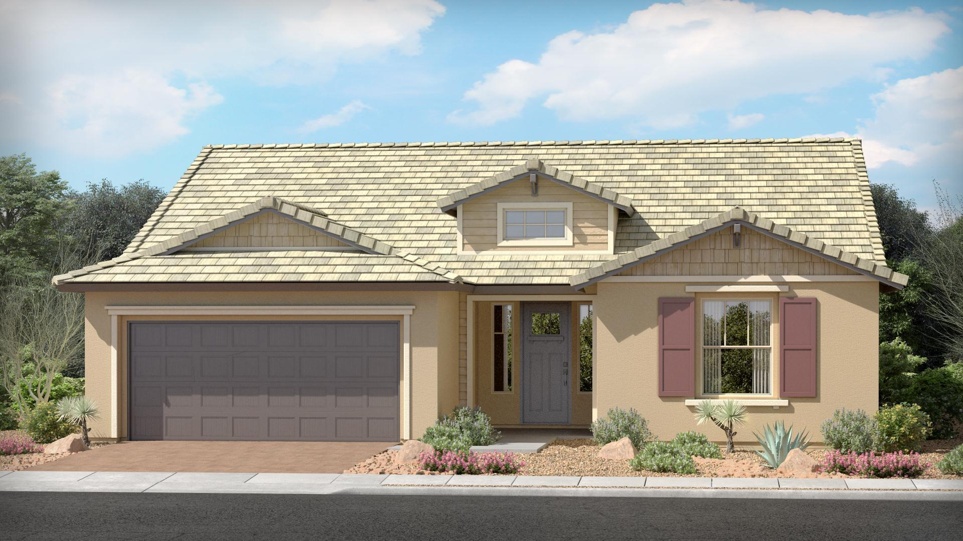 Exterior featured in The Topaz | Plan 45.1750 By Brown Homes AZ in Prescott, AZ