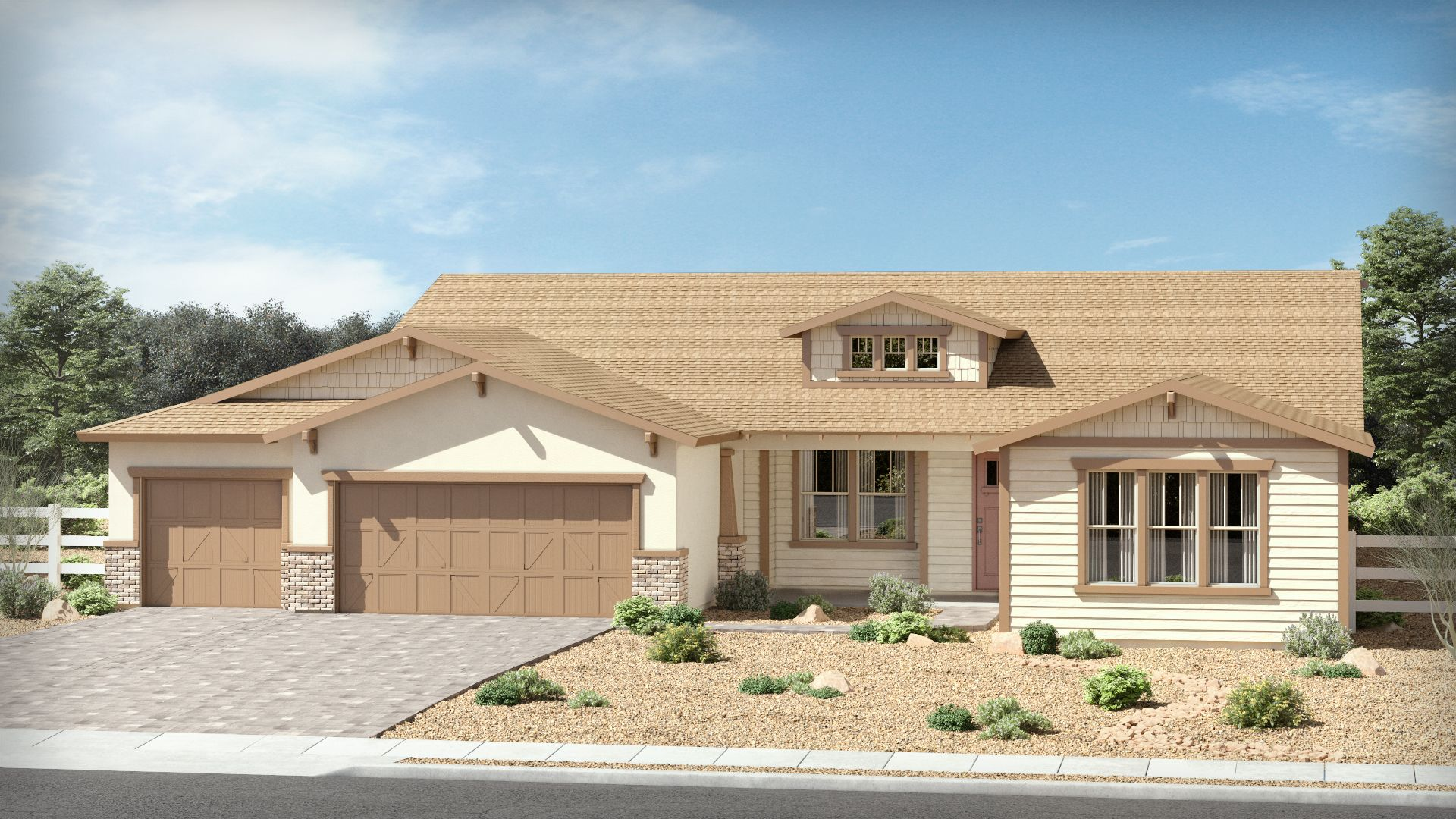 Exterior featured in The Cottonwood By Brown Homes AZ in Prescott, AZ