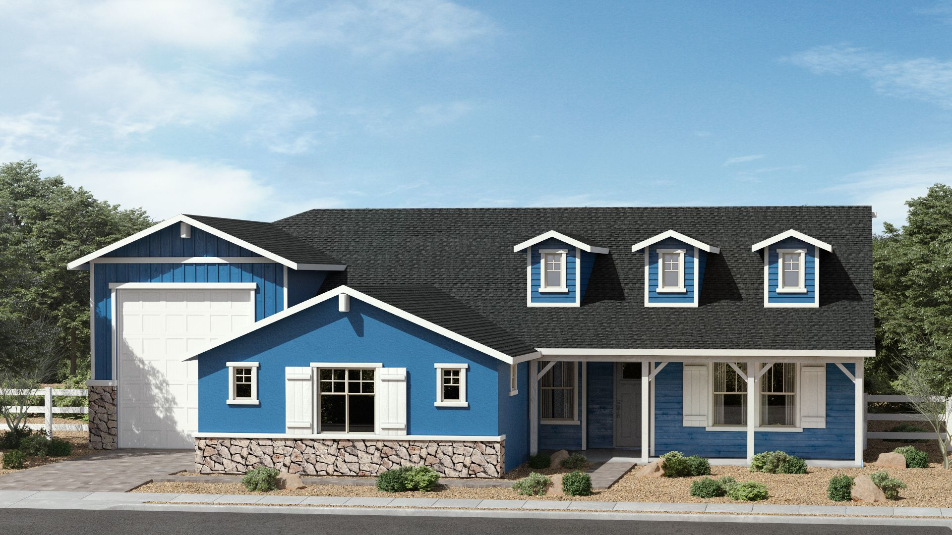 Exterior featured in The Woodland By Brown Homes AZ in Prescott, AZ