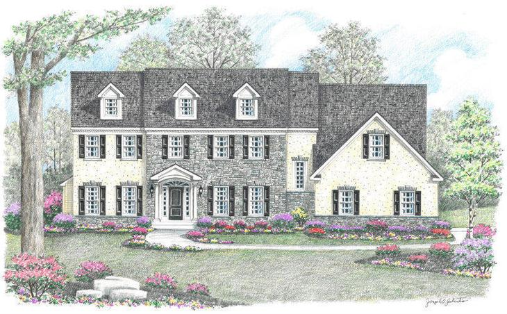 The Brandywine Manor at Hidden Creek:The Brandywine - Manor Elevation