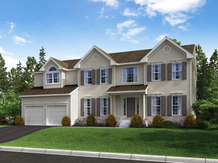 The Oxford Elite Manor at Waverly Pointe:The Oxford Elite - Manor Elevation