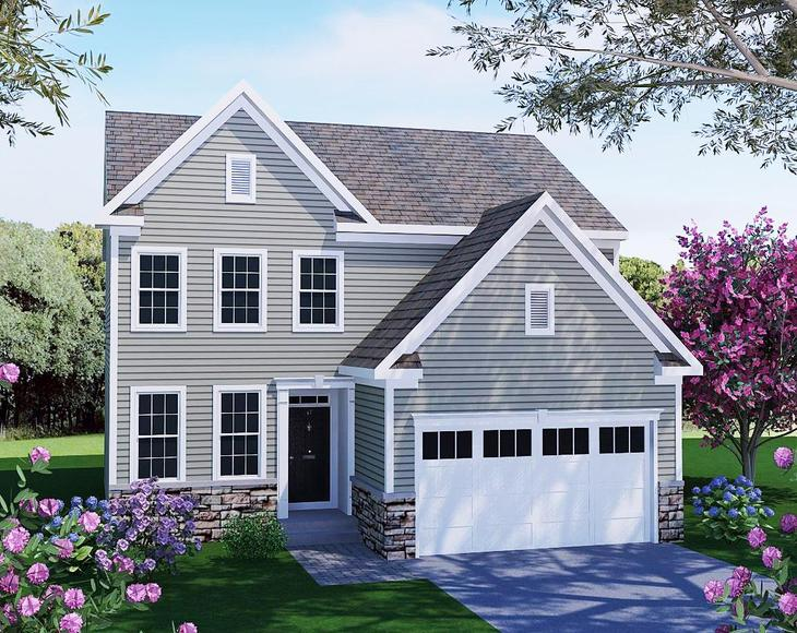 The Laurelton Traditional at Shira Court:The Laurelton - Traditional Elevation