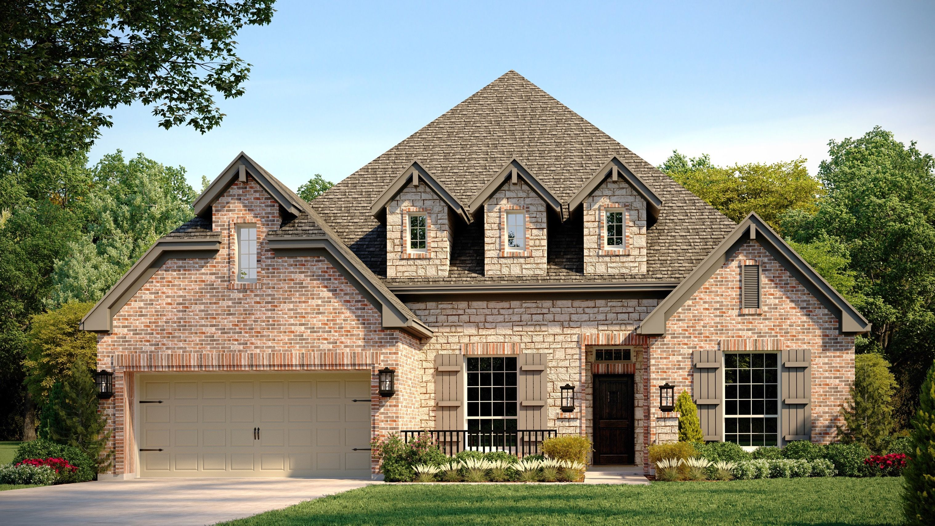 Exterior featured in the Lincoln By Buffington Homes in Fayetteville, AR