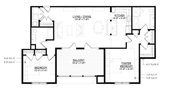 The Boscobel:Floor plan