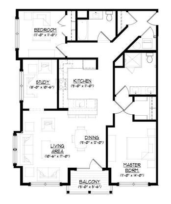 The Butterfield A :Floor plan