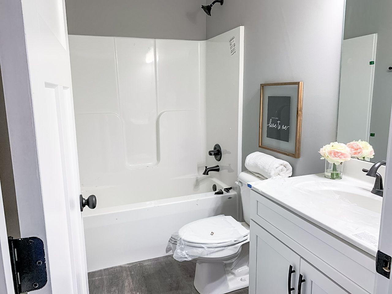 Bathroom featured in the Prescott B By C.A. Jones, Inc.  in St. Louis, IL
