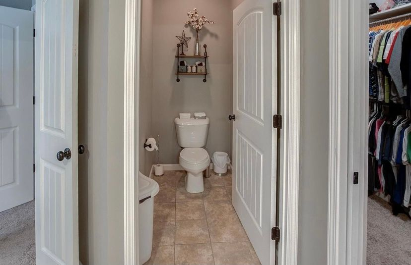 Bathroom featured in the Carswell  By C.A. Jones, Inc.  in St. Louis, IL