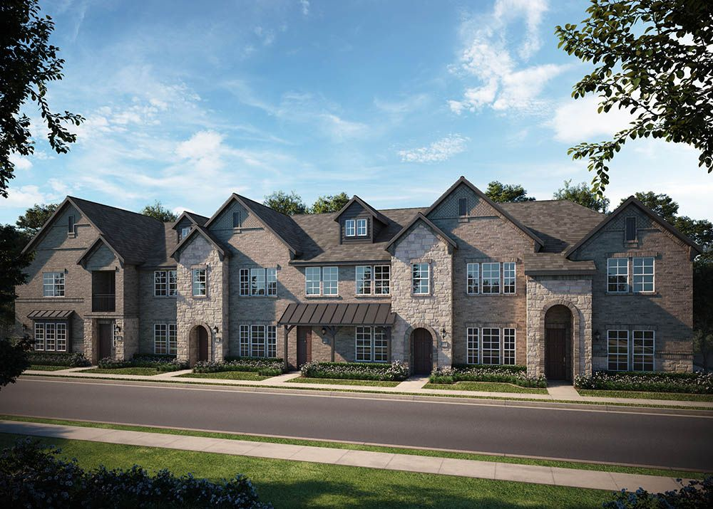 Exterior featured in the Lincoln By CB JENI Homes in Dallas, TX