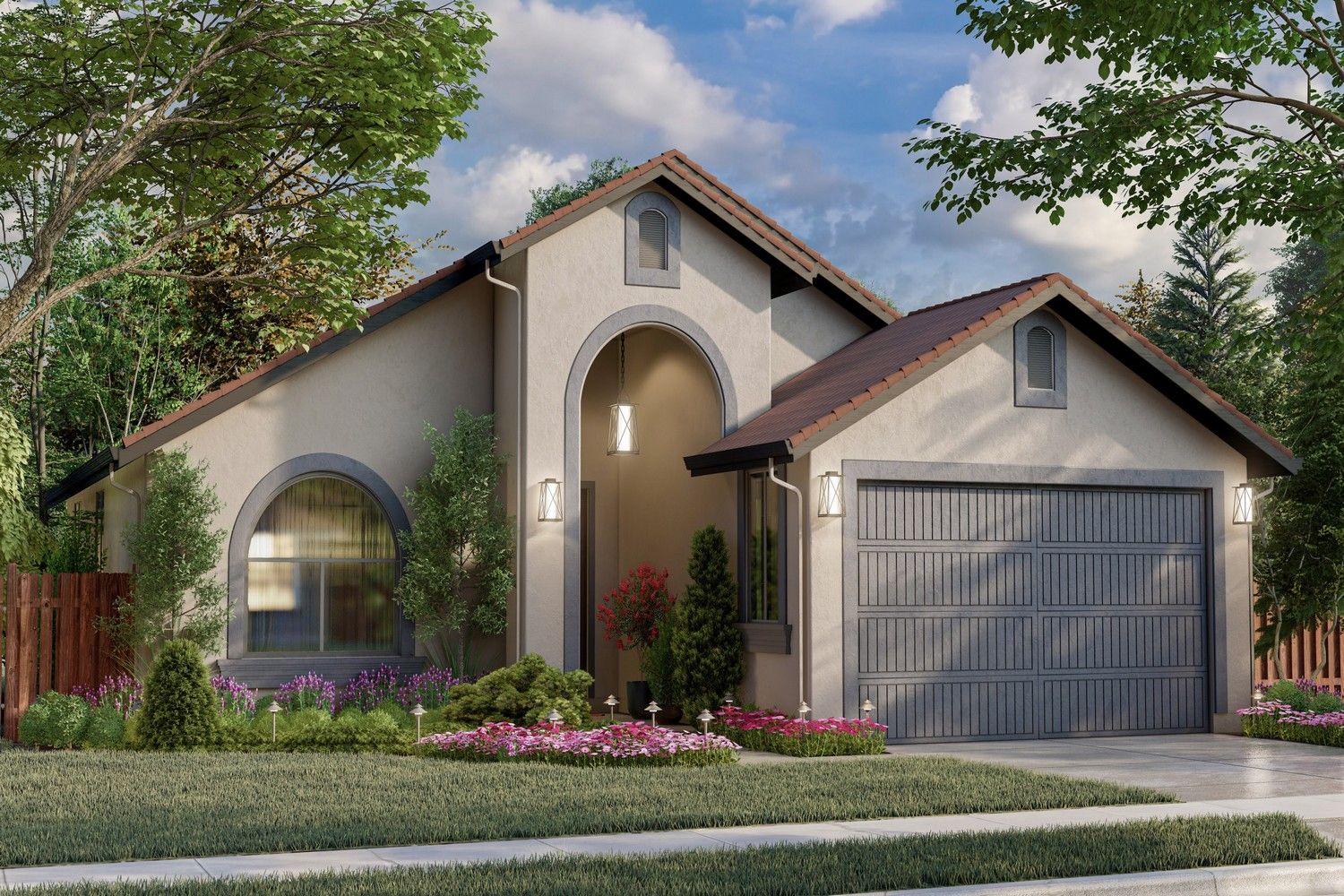 Exterior featured in the Plan 1654 By CEC Homes in Sacramento, CA