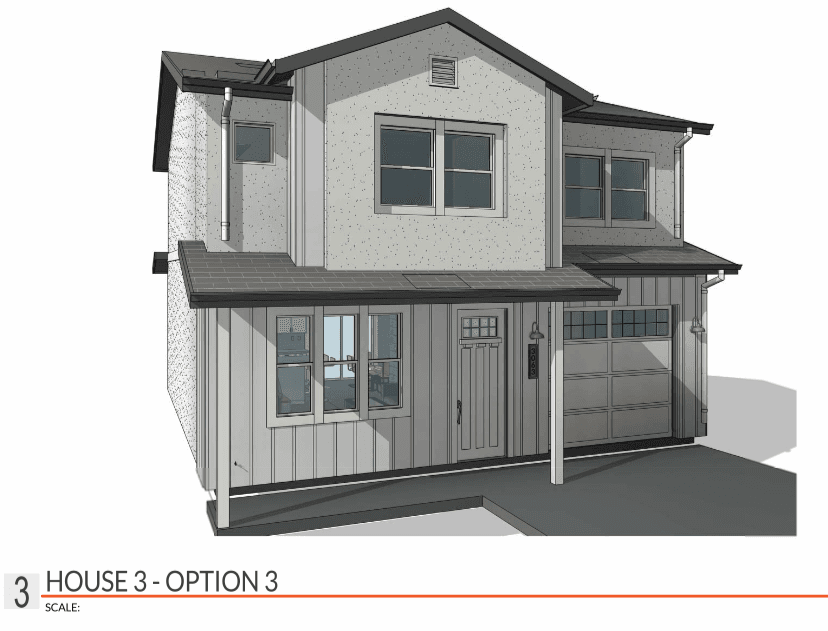 Exterior featured in the Plan 3A By CEC Homes in Sacramento, CA