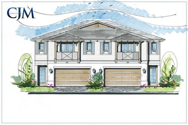 Oceanside Townhomes South:Front Elevation