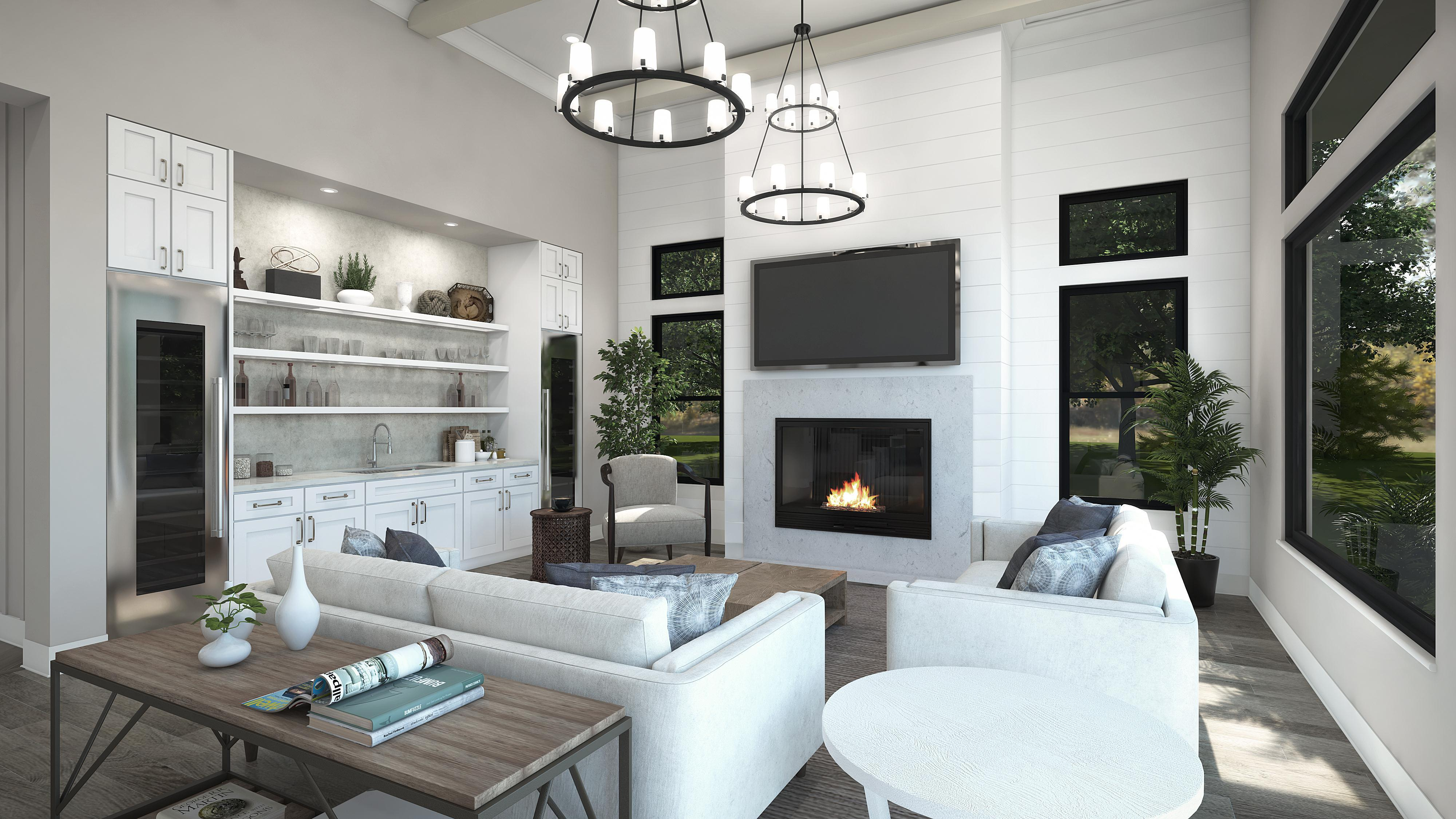 Living Area featured in the Plan 3-A By Copper Valley  in Stockton-Lodi, CA