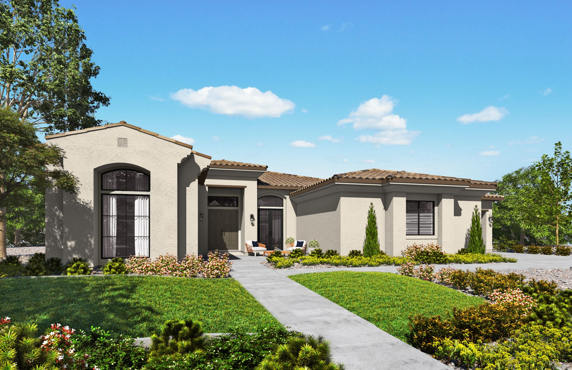 Exterior featured in the Plan 1-A  By Copper Valley  in Stockton-Lodi, CA