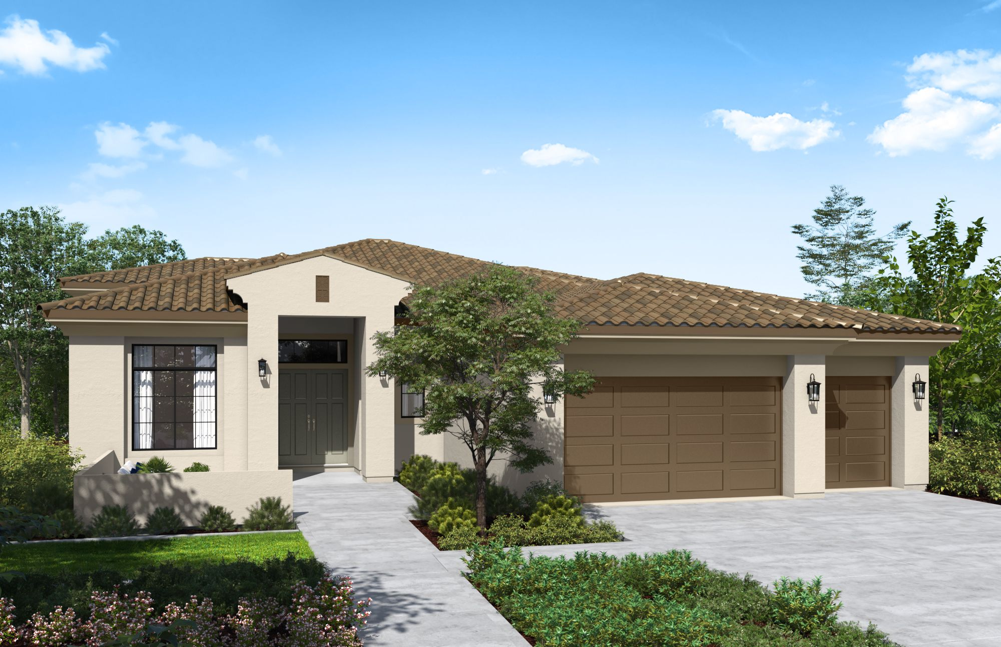 Exterior featured in the Plan 3-A By Copper Valley  in Stockton-Lodi, CA