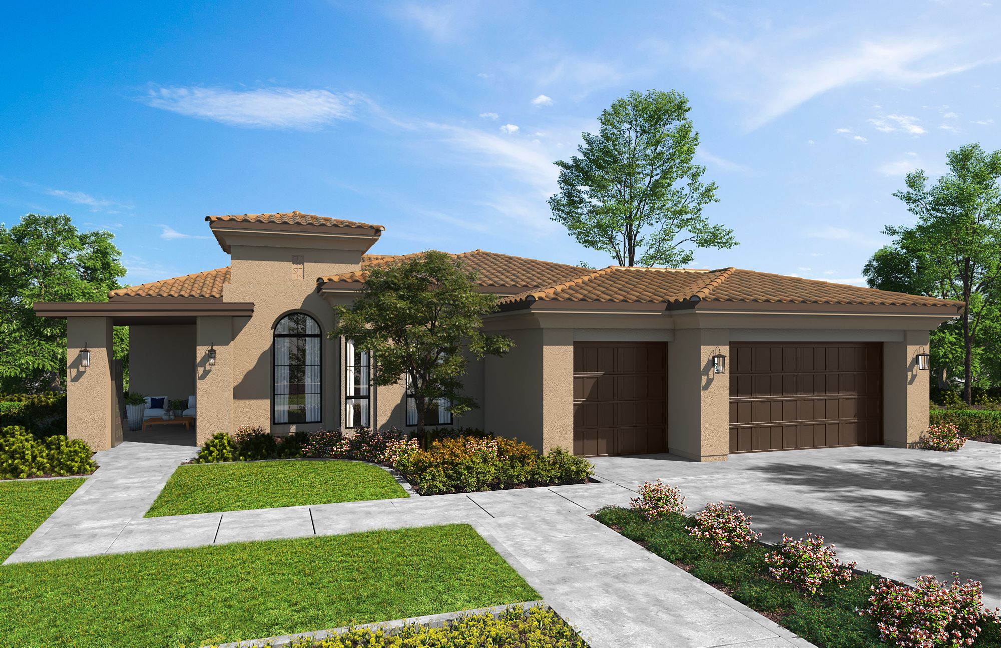Exterior featured in the Plan 2-A By Copper Valley  in Stockton-Lodi, CA