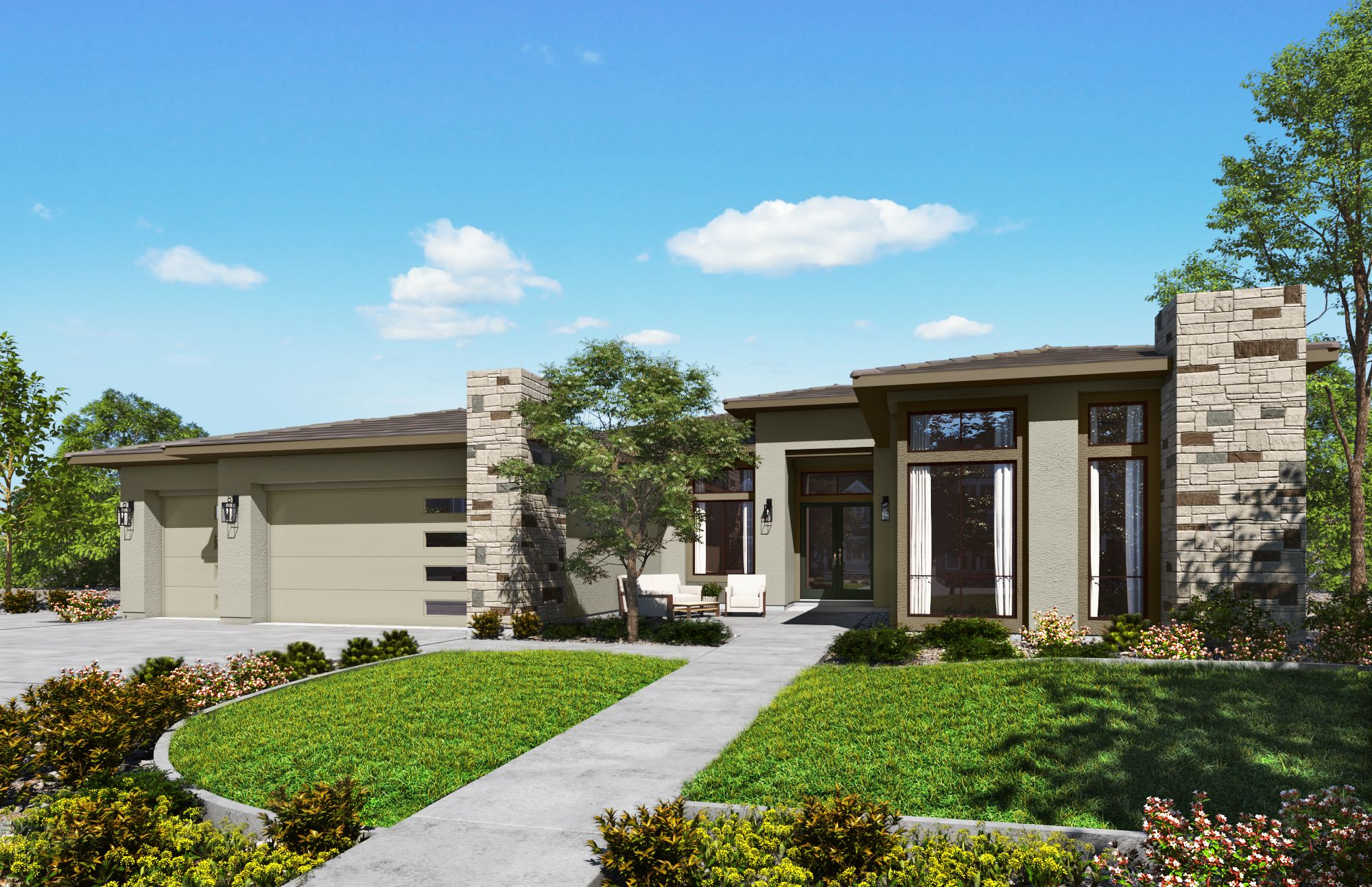 Exterior featured in the Plan 1-B By Copper Valley  in Stockton-Lodi, CA