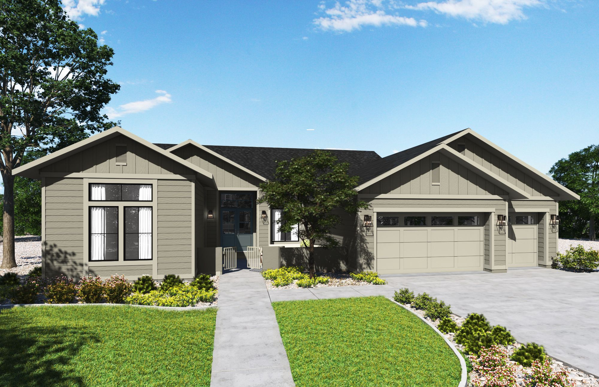 Exterior featured in the Plan 1-C By Copper Valley  in Stockton-Lodi, CA
