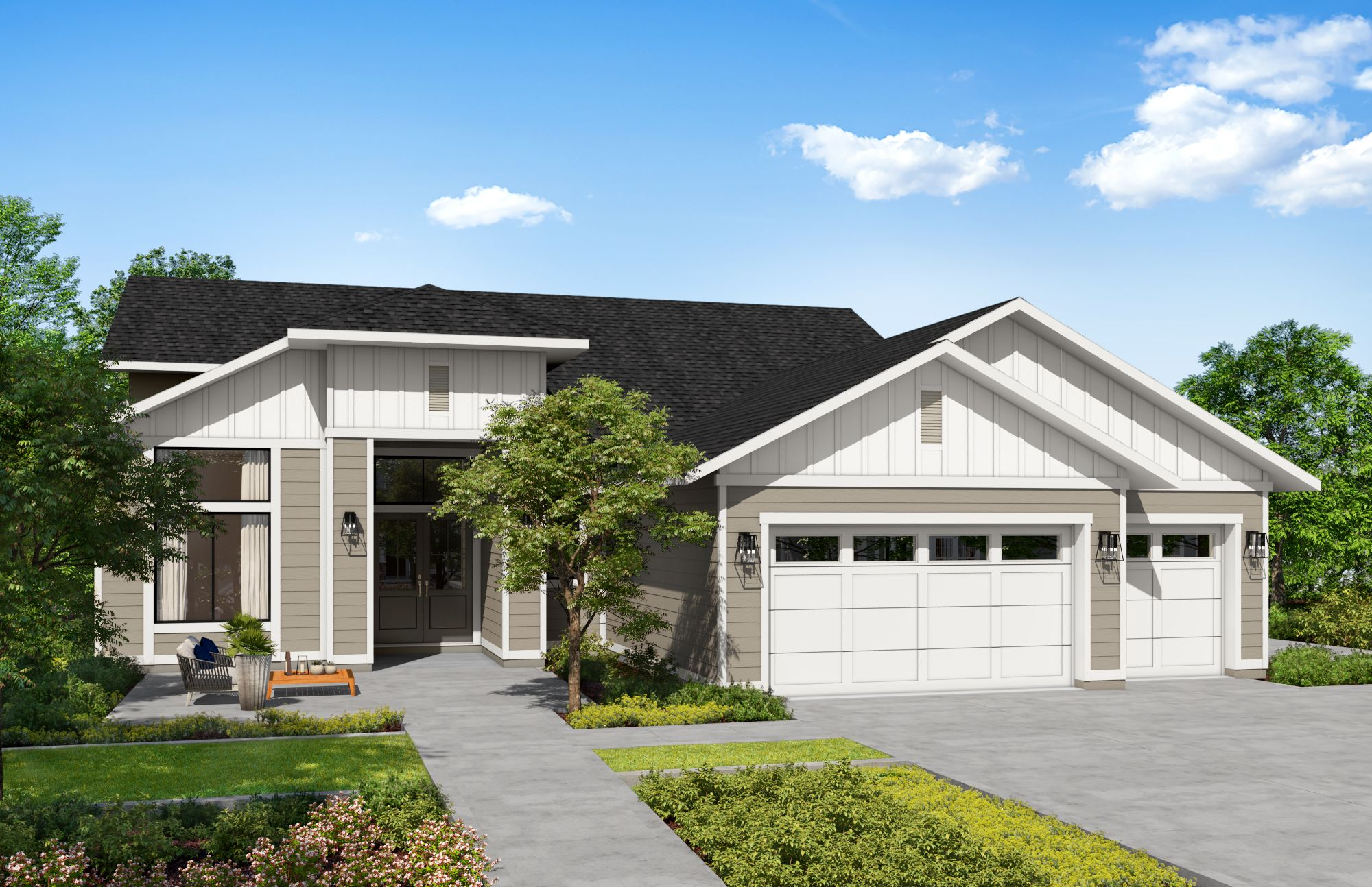 Exterior featured in the Plan 3-C By Copper Valley  in Stockton-Lodi, CA