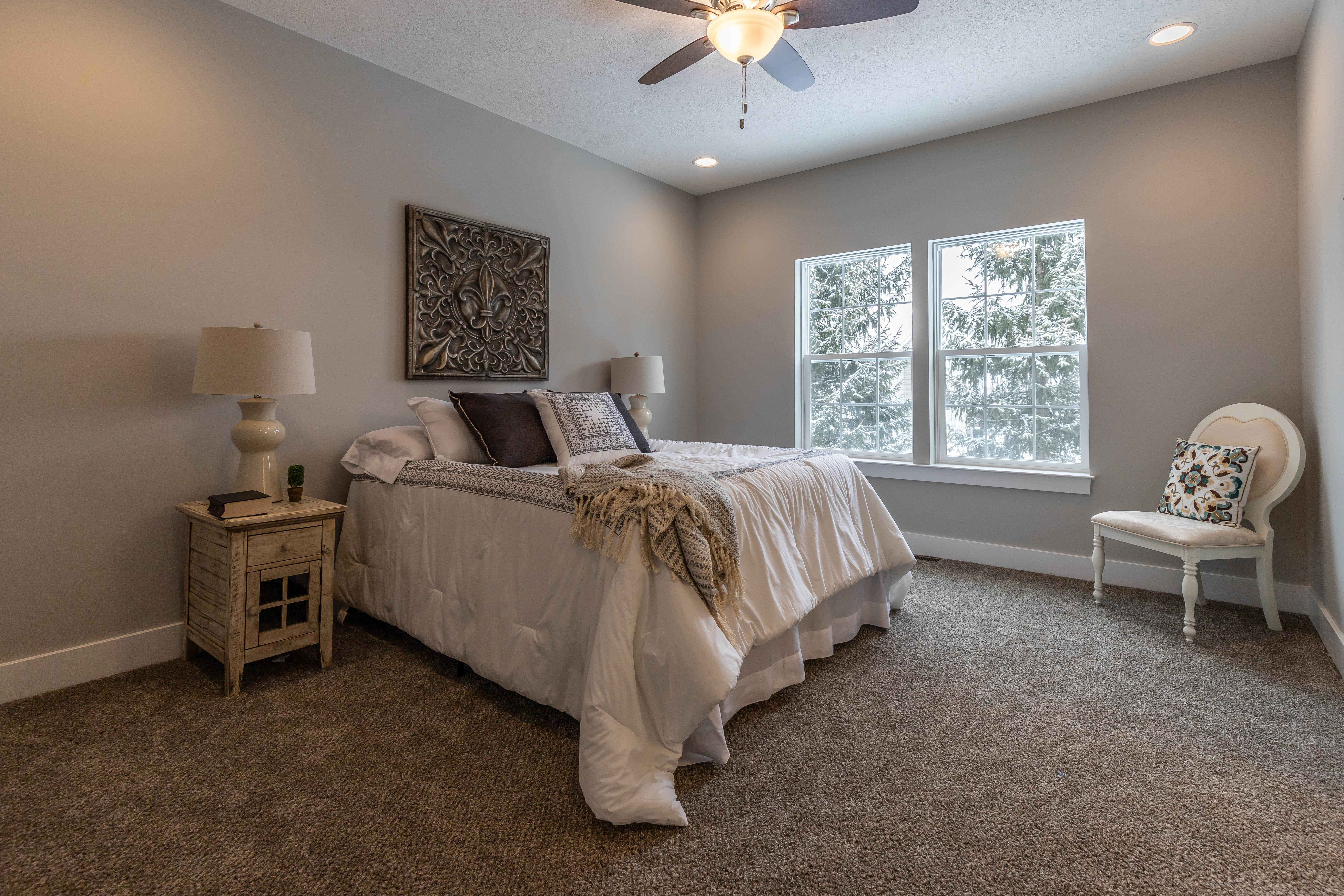 Bedroom featured in the Taylor By CVE Homes in Jackson, MI