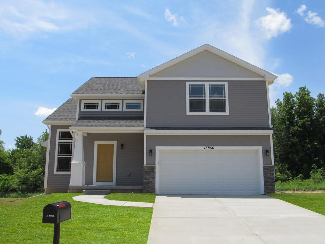 Exterior featured in the Villager By CVE Homes in Jackson, MI