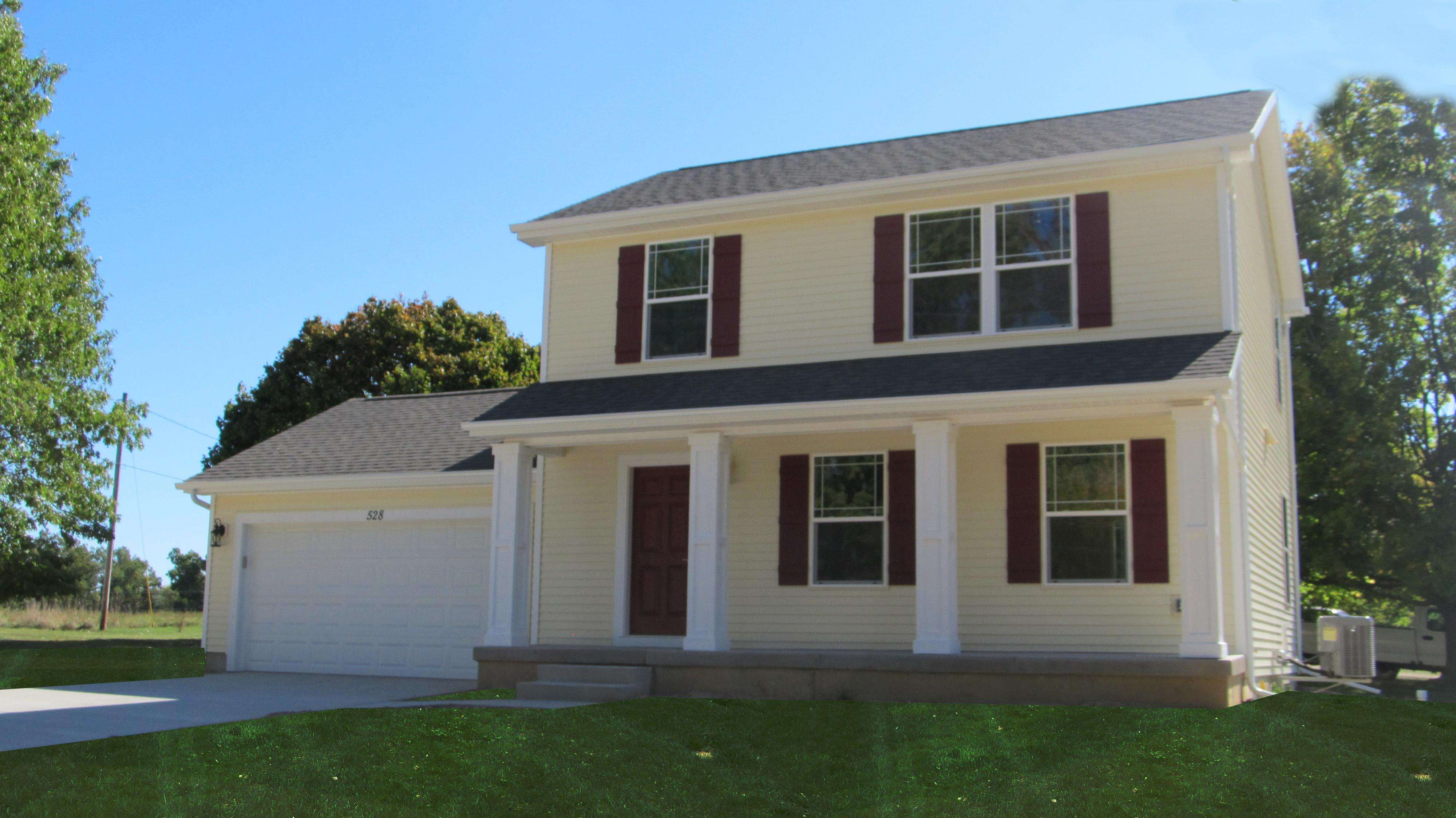Exterior featured in the Washington By CVE Homes in Jackson, MI