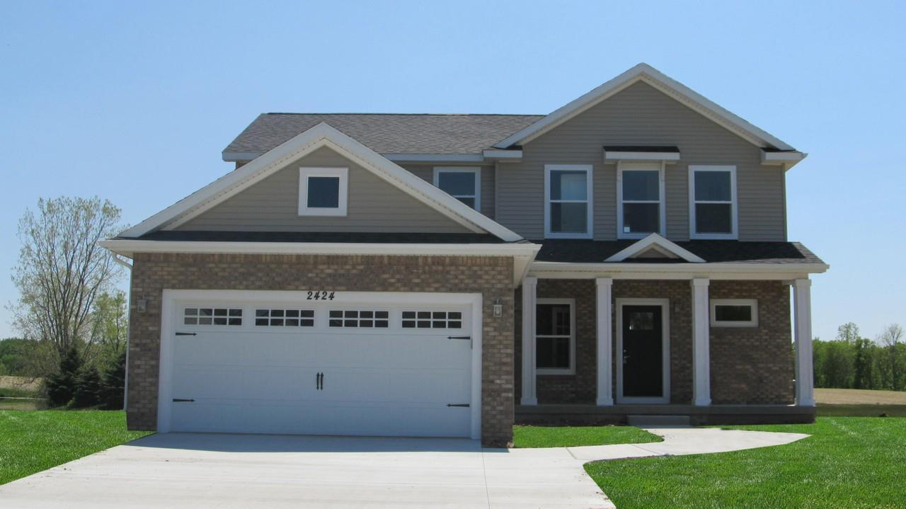 Exterior featured in the Monroe By CVE Homes in Jackson, MI