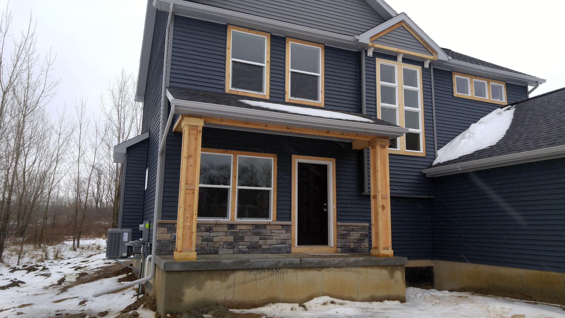 Exterior featured in the Franklin By CVE Homes in Jackson, MI