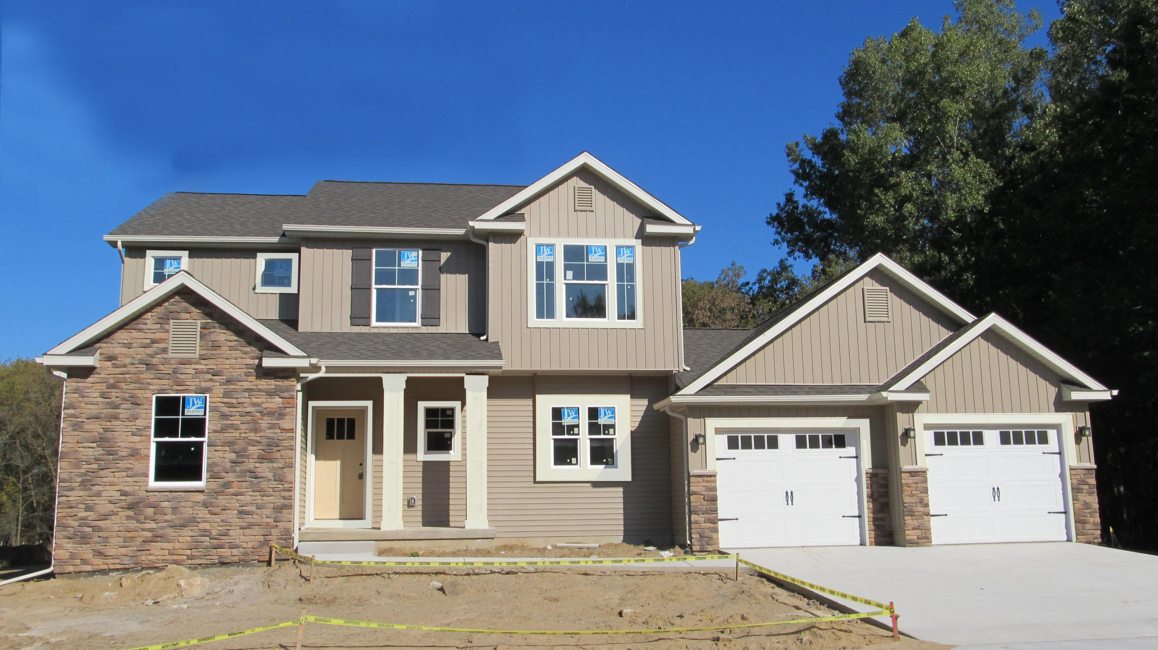 Exterior featured in the Springfield By CVE Homes in Jackson, MI