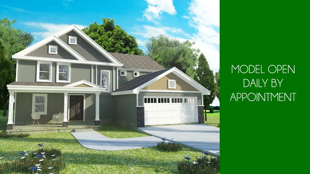 Exterior featured in the Adams By CVE Homes in Lansing, MI