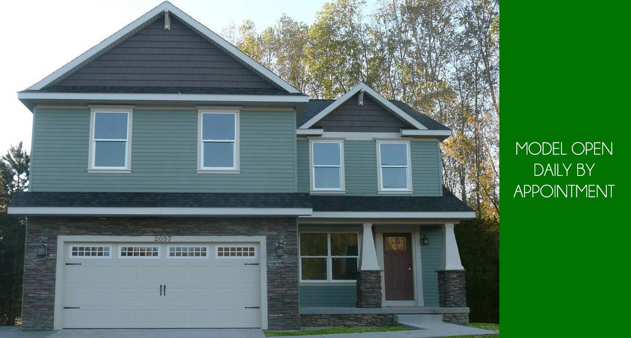 Exterior featured in the Chester By CVE Homes in Jackson, MI